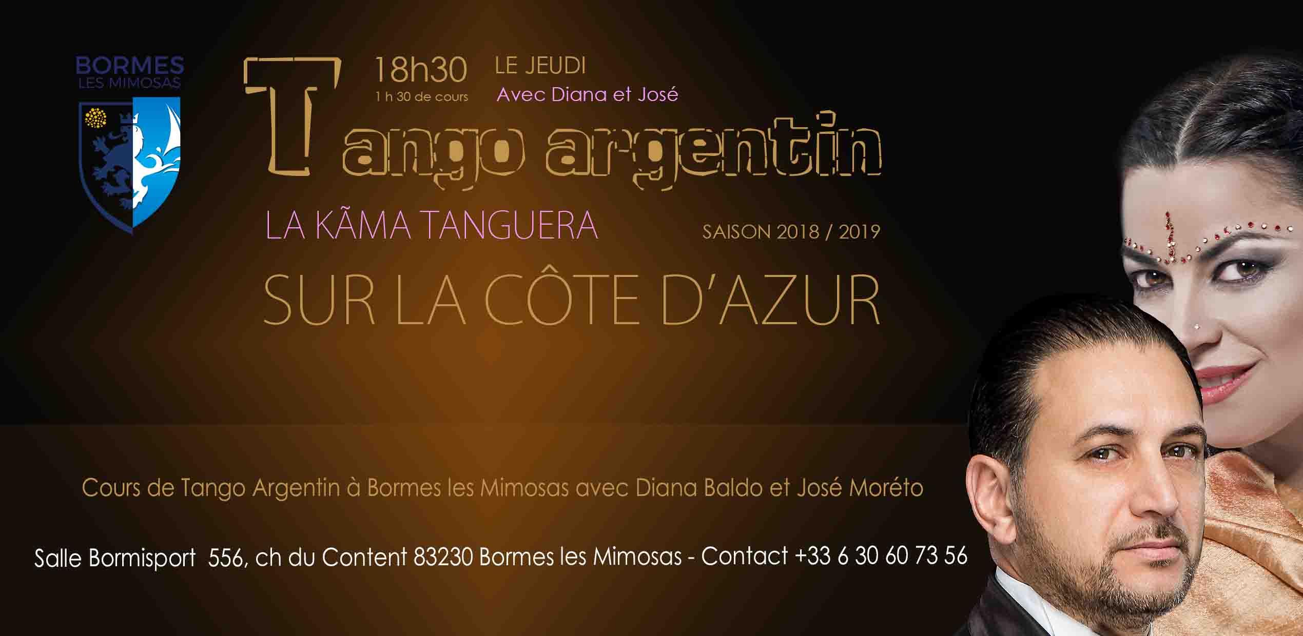 Cours de Tango Argentin à Bormes les Mimosas avec Diana Baldo et José Moréto
