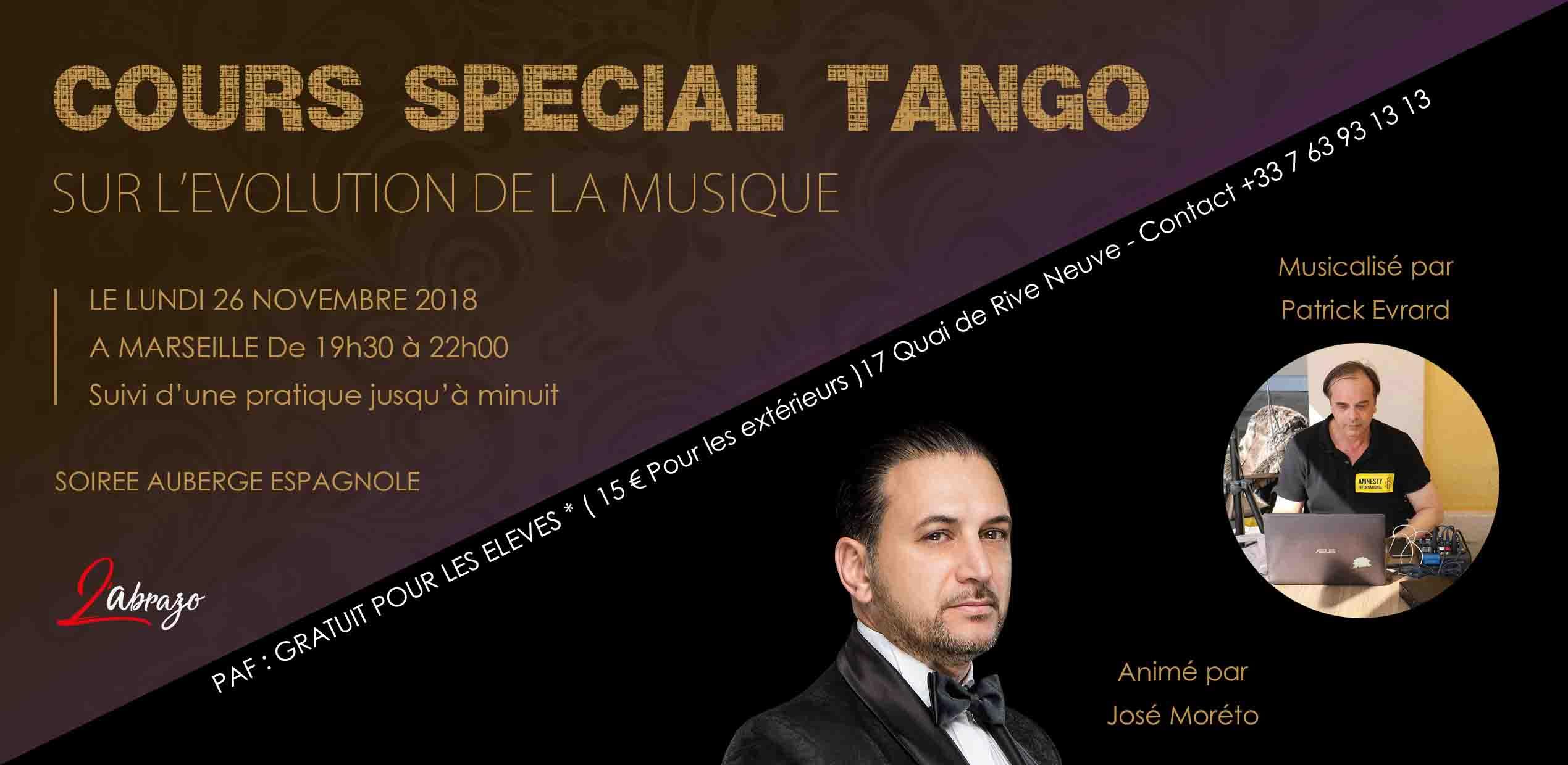 Cours spécial Tango Argentin à Marseille avec José Moréto et Patrick Evrard